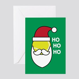 Christmas tennis greeting cards cafepress santa tennis greeting cards m4hsunfo Choice Image