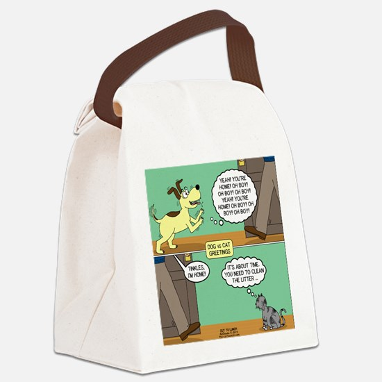 dog and cat Canvas Lunch Bag