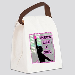 Throw like a Girl Canvas Lunch Bag