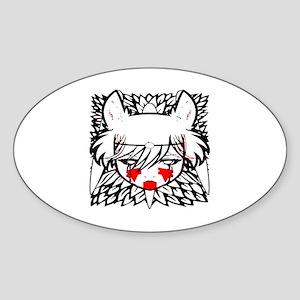 wolf princess Sticker (Oval)