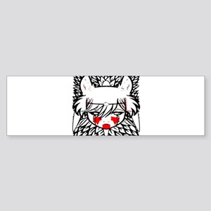 wolf princess Bumper Sticker