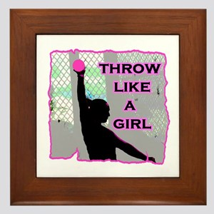 Throw like a Girl Framed Tile