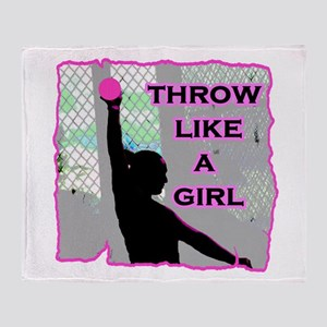 Throw like a Girl Throw Blanket