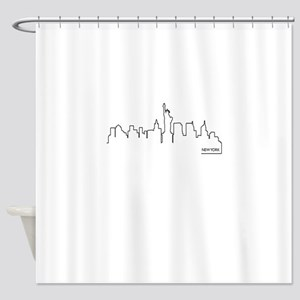 New York cityscape Shower Curtain