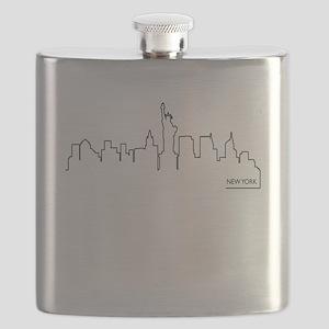 New York cityscape Flask