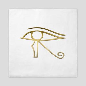 Eye of Horus Egyptian symbol Queen Duvet