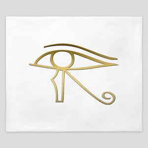 Eye of Horus Egyptian symbol King Duvet