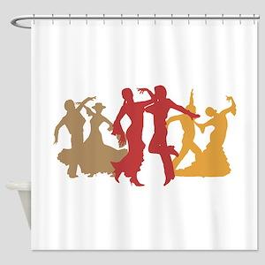 Colorful Flamenco Dancers Shower Curtain