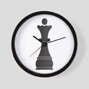 Black queen chess piece Wall Clock