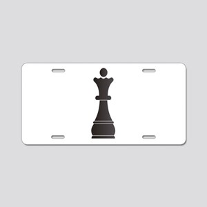 Black queen chess piece Aluminum License Plate