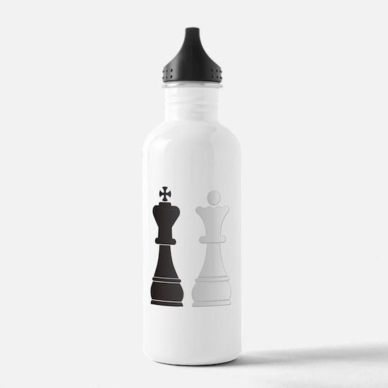 Black king white queen Water Bottle