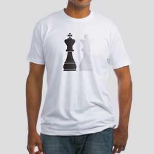 Black king white queen chess pieces T-Shirt