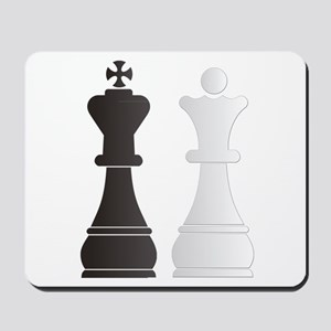 Black king white queen chess pieces Mousepad