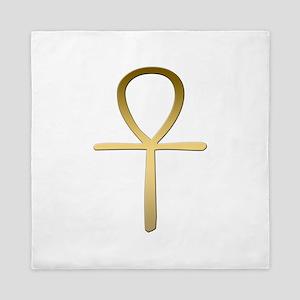Ankh cross Egyptian symbol Queen Duvet