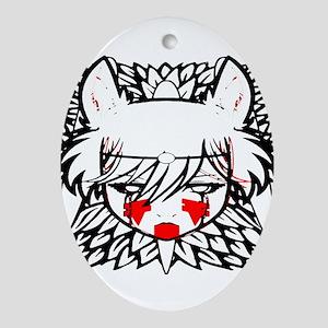 wolf princess Ornament (Oval)