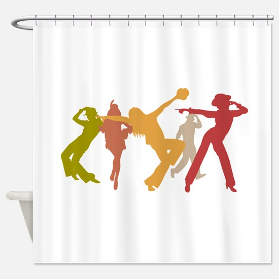 Colorful Jazz Dancers Shower Curtain