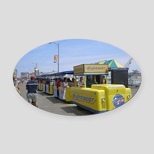 Watch the Tram Car  Oval Car Magnet