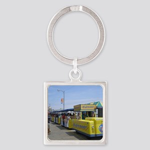 Watch the Tram Car  Square Keychain