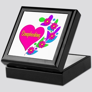 Scrapbooking Heart Keepsake Box