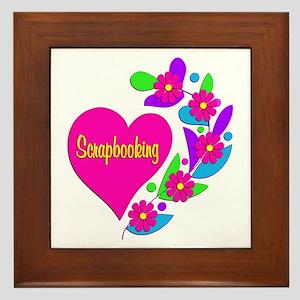 Scrapbooking Heart Framed Tile