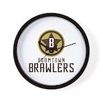 Boomtown Brawlers Wall Clock