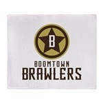 Boomtown Brawlers Throw Blanket