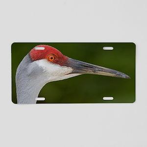 Sandhill Crane Aluminum License Plate