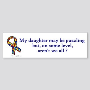 Puzzling (Daughter) Bumper Sticker