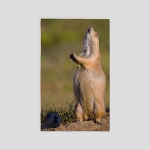 prairie dog alert Area Rug