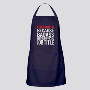 Firefighter Badass Job Title Apron (dark)
