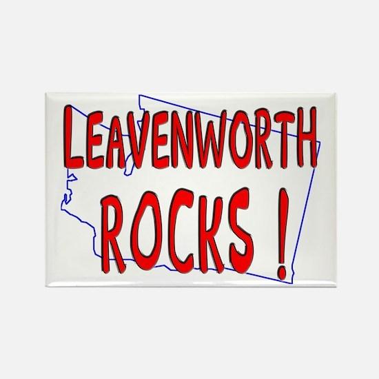 Leavenworth Rocks ! Rectangle Magnet