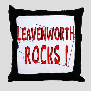 Leavenworth Rocks ! Throw Pillow