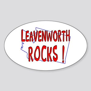 Leavenworth Rocks ! Oval Sticker