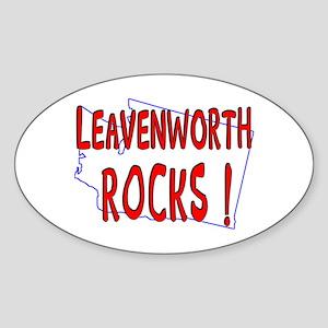 Leavenworth Rocks ! Oval Sticker