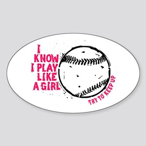 Play Softball Like a Girl Sticker