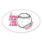 Play Softball Like a Girl Sticker