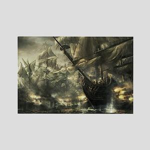 Sailing Ships Rectangle Magnet