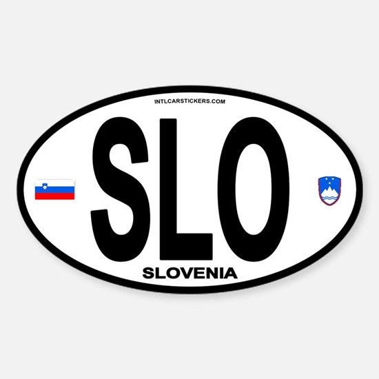 Slovenia Euro-style Code Oval Decal