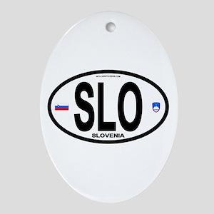 Slovenia Euro-style Code Oval Ornament