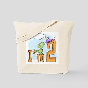 Dinosaur Fun 2nd Birthday Tote Bag