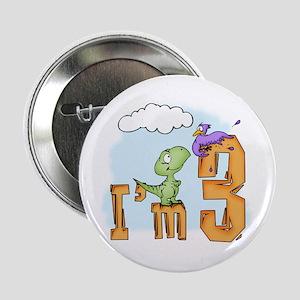Dinosaur Fun 3rd Birthday Button