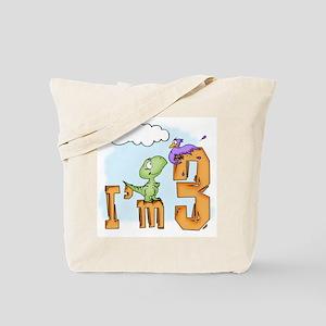 Dinosaur Fun 3rd Birthday Tote Bag