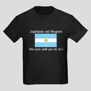 Argentinean and Gorgeous Kids Dark T-Shirt