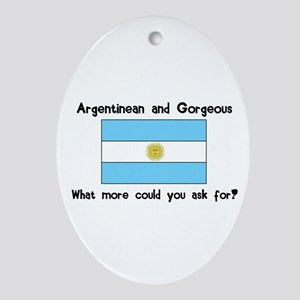 Argentinean and Gorgeous Oval Ornament