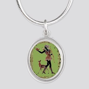 Artemis Silver Oval Necklace Necklaces