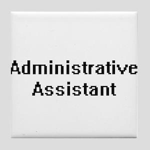 Administrative Assistant Retro Digita Tile Coaster