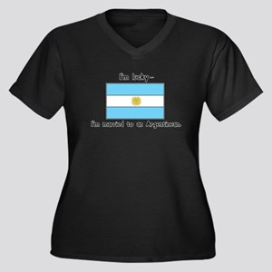 Married to an Argentinean Women's Plus Size V-Neck