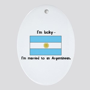 Married to an Argentinean Oval Ornament