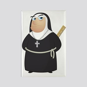 Angry Nun Rectangle Magnet