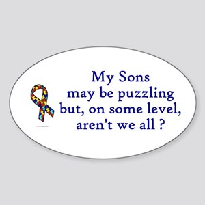 Puzzling (Sons) Oval Sticker